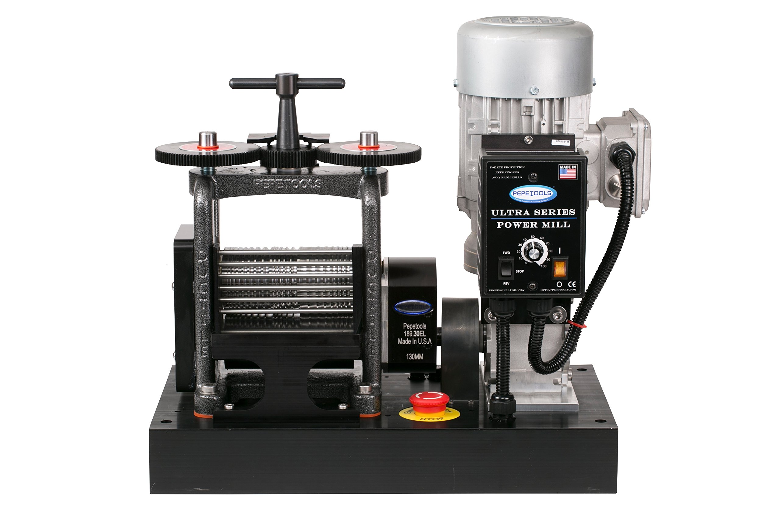 PepeTools Ultra Power Electric Fancy Wire Rolling Mill 130mm, Made in the USA by Ultra Power