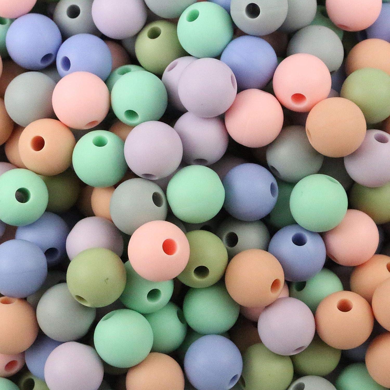 Coskiss DIY Silicone Molar Kit Color mezclado Geom/étrico Hexagonal Bead de silicona Alphabet Bead de silicona N/úmero de Bead de silicona Abacus Bead de silicona Baby Teether Toy Set