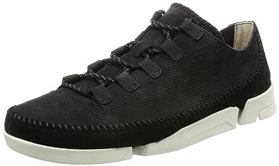 fbb4779a9a8 Clarks Originals Mens Trigenic Flex 2 Black Nubuck Leather Shoes 11 US