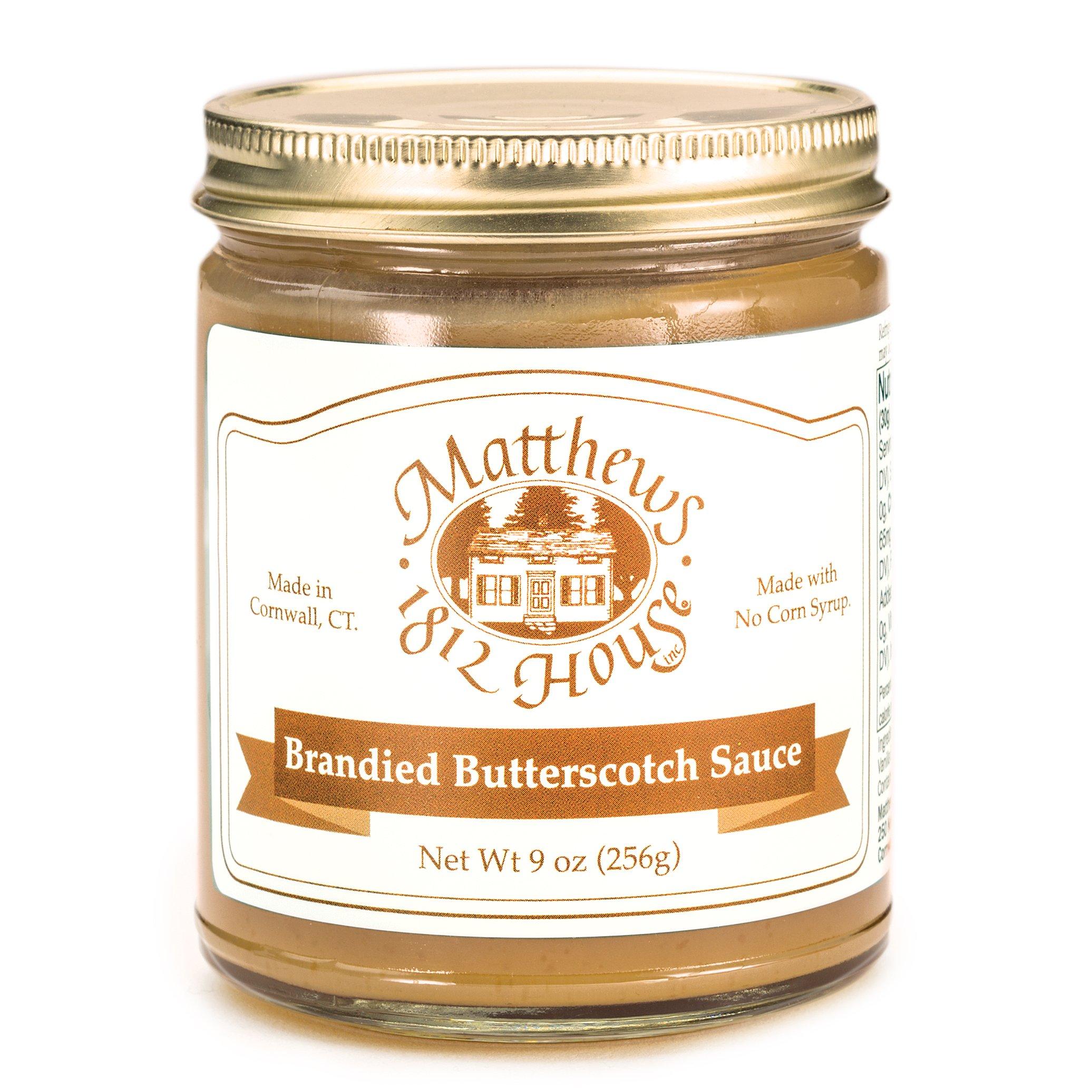 Matthews 1812 House Brandied Butterscotch Sauce 10 oz