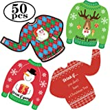 Happy Storm 50 Pieces Christmas Drink If Game Holiday Party Game Ugly Sweater Drink If Card Games for Adults Christmas Wild a