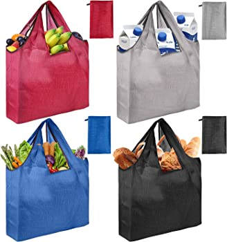 4-Pack Magic-shop Reusable Foldable Large Grocery Bags