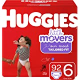 Diapers Size 6 - Huggies Little Movers Disposable Baby Diapers, 92ct, Mega Colossal Pack