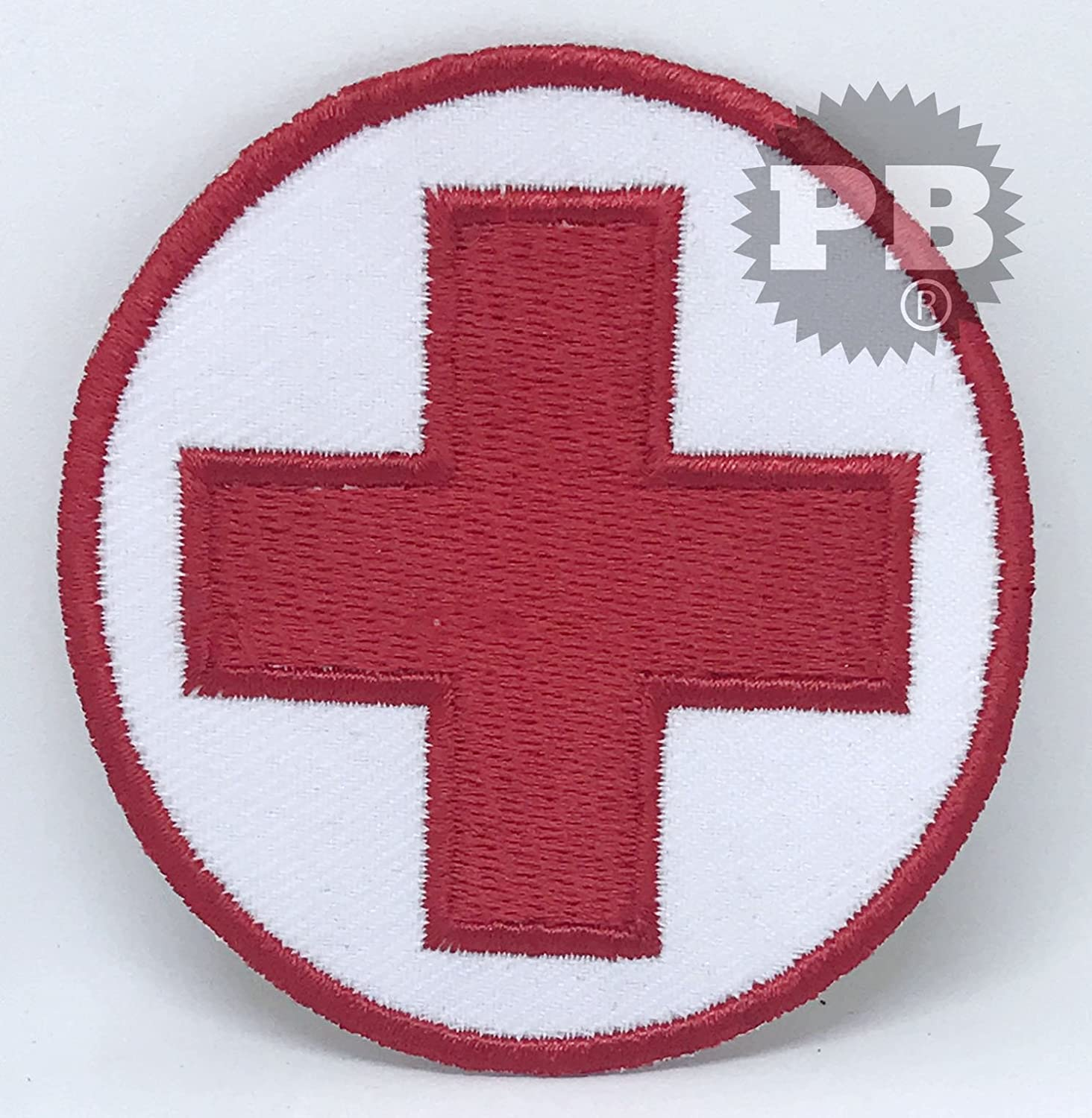 #1300 Red Cross Emergency Logo Iron on Sew on Embroidered Patch Embrologos