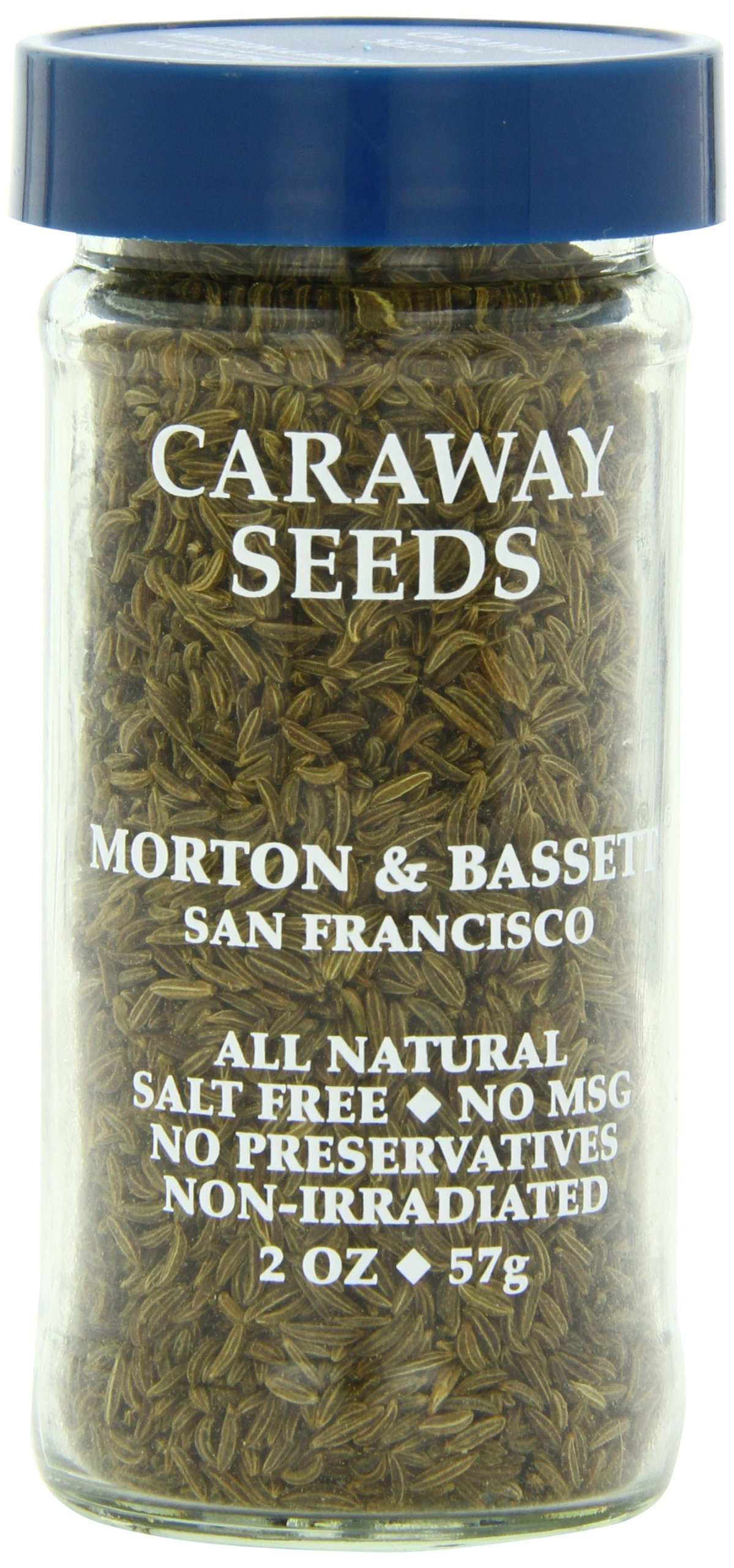 Morton & Bassett Caraway Seeds, 2-Ounce Jars (Pack of 3)