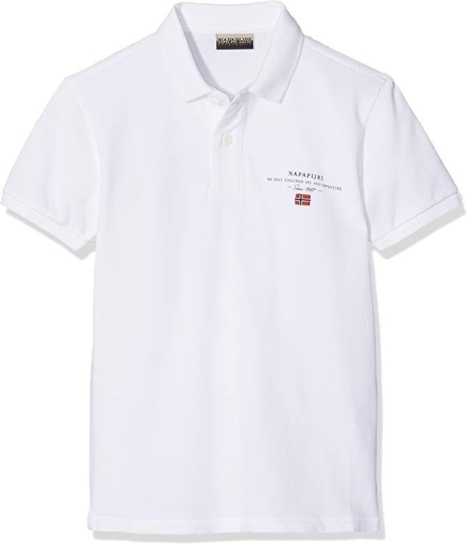 Napapijri K Elbas 2 Polo, Blanco (Bright White 002), 140 (Talla ...