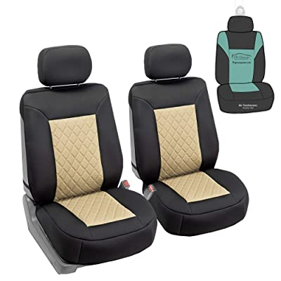 FH Group FB088102 Neosupreme Deluxe Quality Car Seat Cushions (Beige) Front Set with Gift - Universal Fit for Cars Trucks and SUVs: Automotive