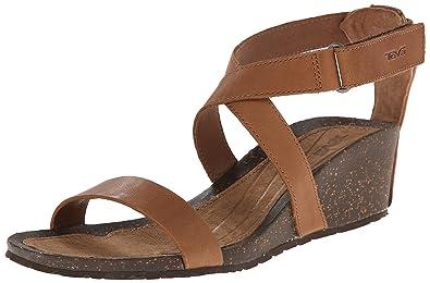 Teva Women's Cabrillo Strap Wedge 2 Sandal, Tan, ...