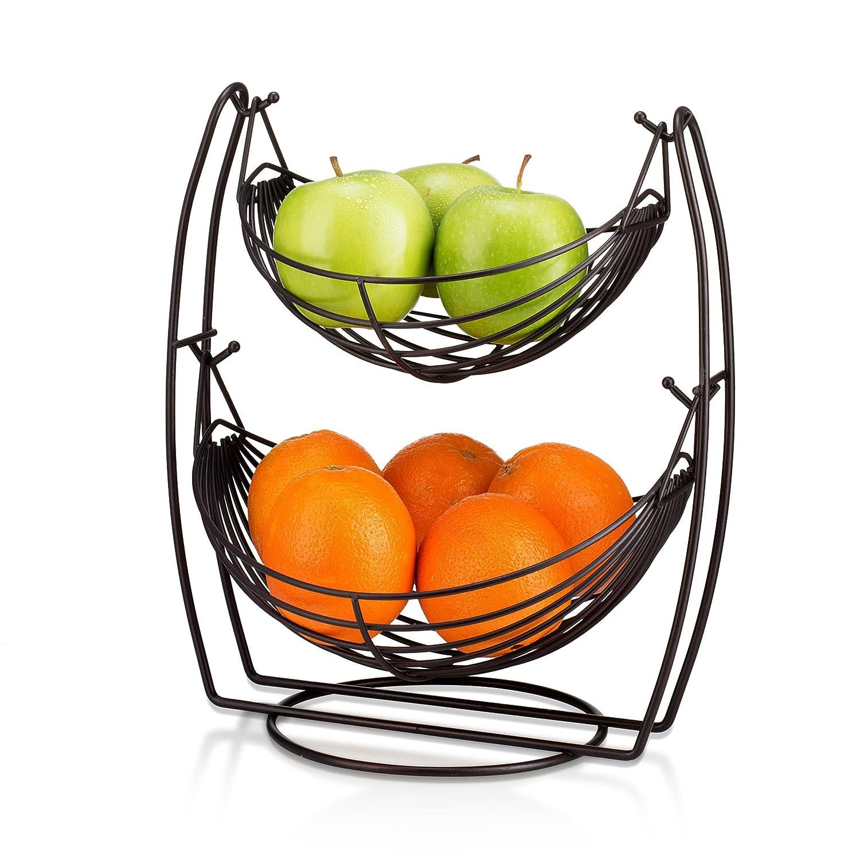 amazon     saganizer 2 tier fruit baskets bronze fruit basket  serving bowls  u0026 tureens amazon     saganizer 2 tier fruit baskets bronze fruit basket      rh   amazon