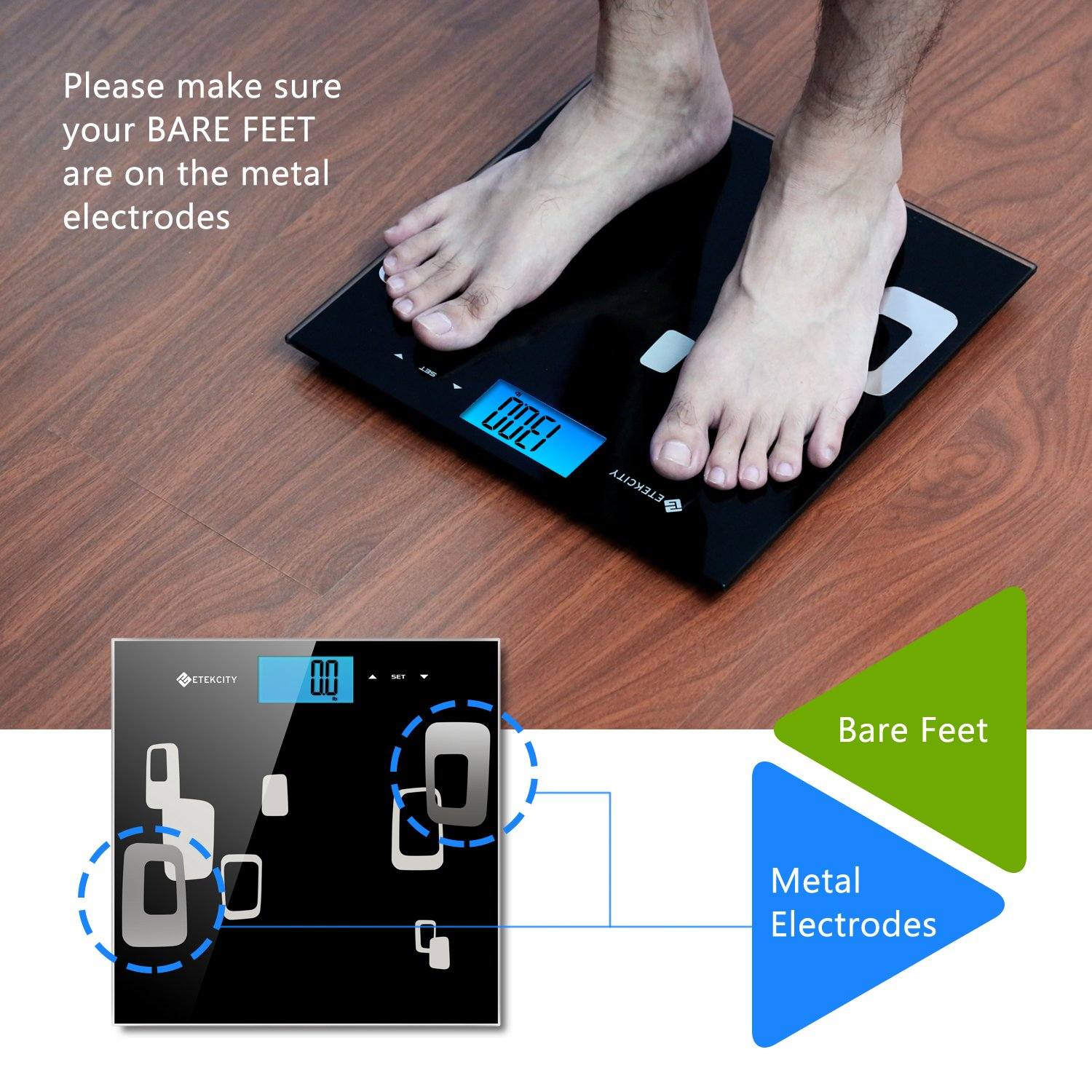 Amazoncom Etekcity Digital Body Weight Scale High Precision - Large display digital bathroom scales for bathroom decor ideas