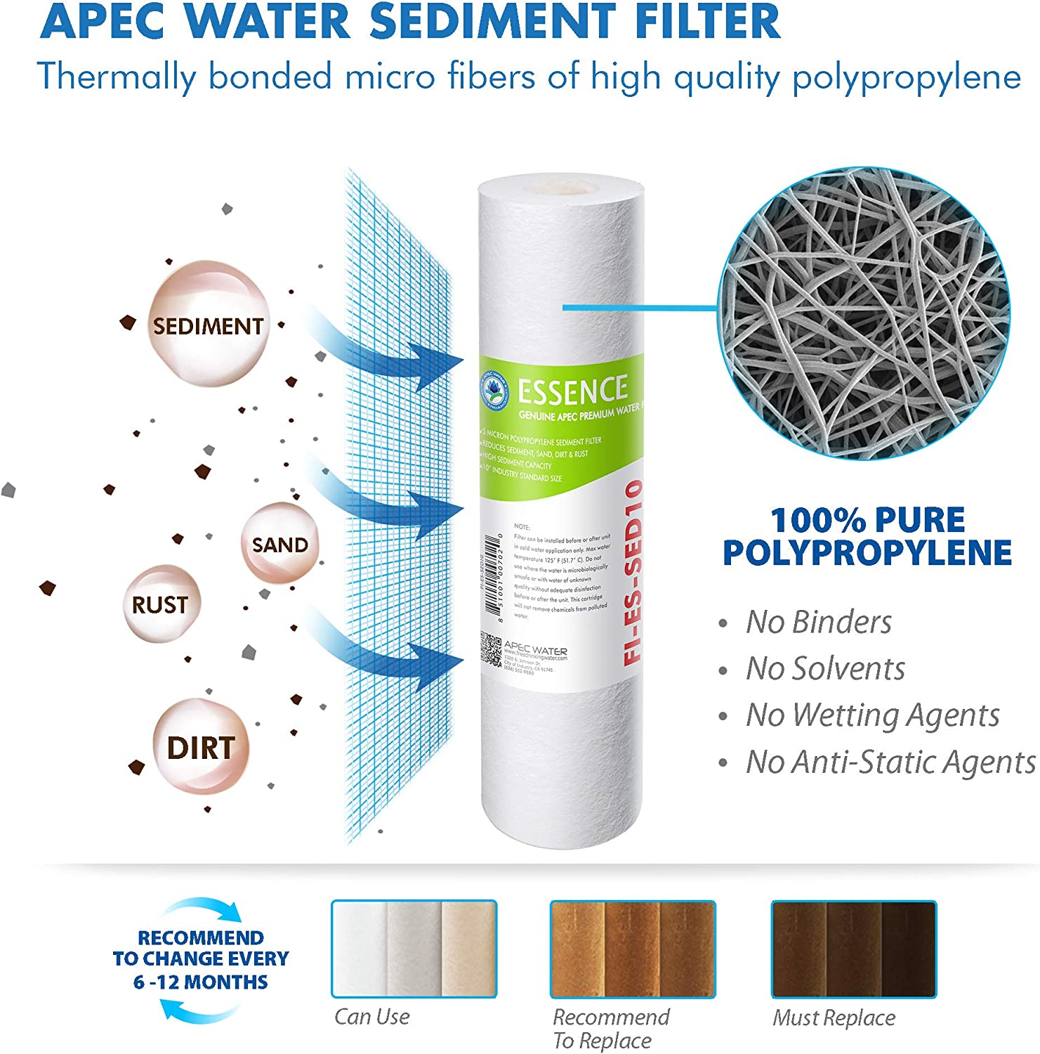 Amazon Com Apec Water Systems Filter Max Es50 50 Gpd High Capacity Complete Replacement Filter Set For Essence Series Reverse Osmosis Water Filter System Stage 1 5 Home Improvement