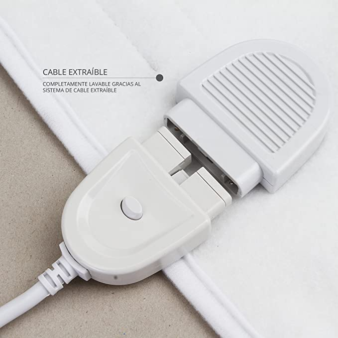 Cubre colchones calientacamas eléctrico para cama individual 60W ...