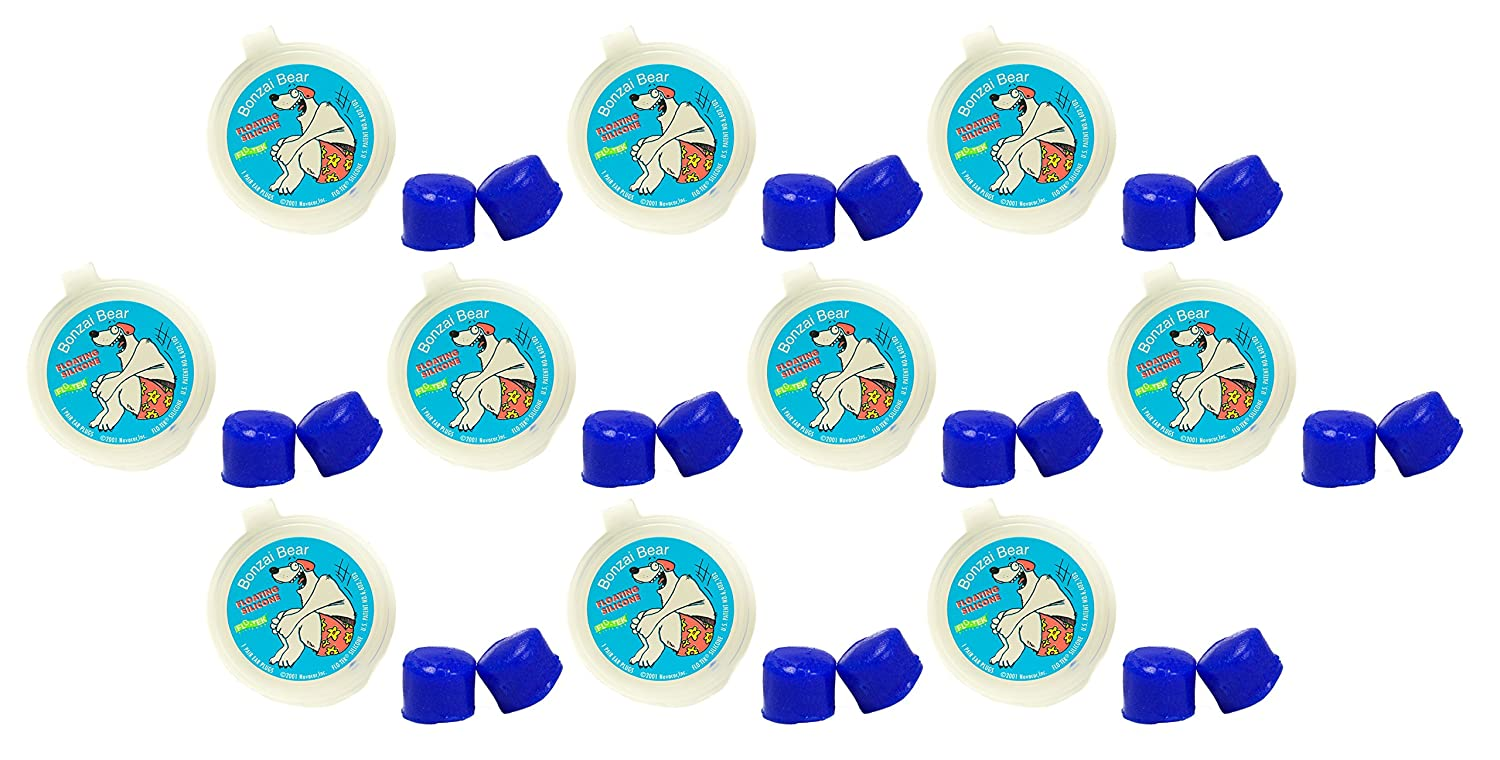 Invented by Physician Putty Buddies Floating Earplugs 10-Pair Pack Keep Water Out Soft Silicone Ear Plugs for Swimming /& Bathing Doctor Recommended Premium Swimming Earplugs