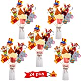 24 Pieces Carnival Centerpiece Sticks for Circus Party Table Toppers Carnival Circus Birthday Party Decoration Baby Shower Birthday Party Supplies