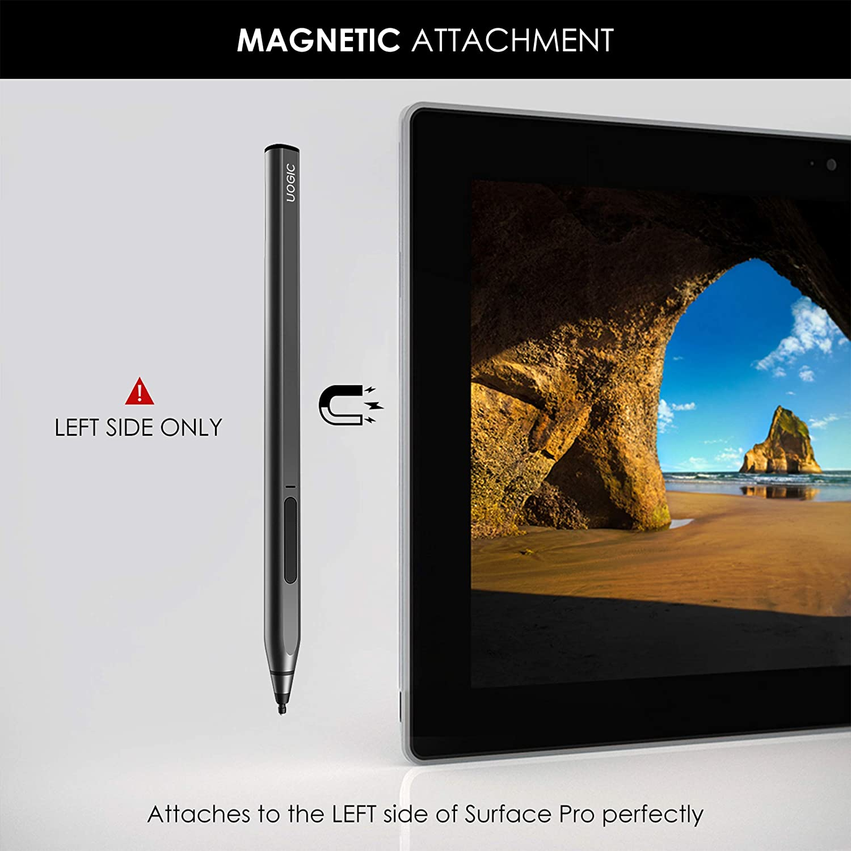 for Surface Pro//Go//Book//Studio//Laptop Series Rechargeable Tilt /& Palm Rejection Flex /& Soft HB Tip Uogic Pen for Microsoft Surface 4096 Pressure Sensitivity Ink 581 Magnetic Stylus Pen