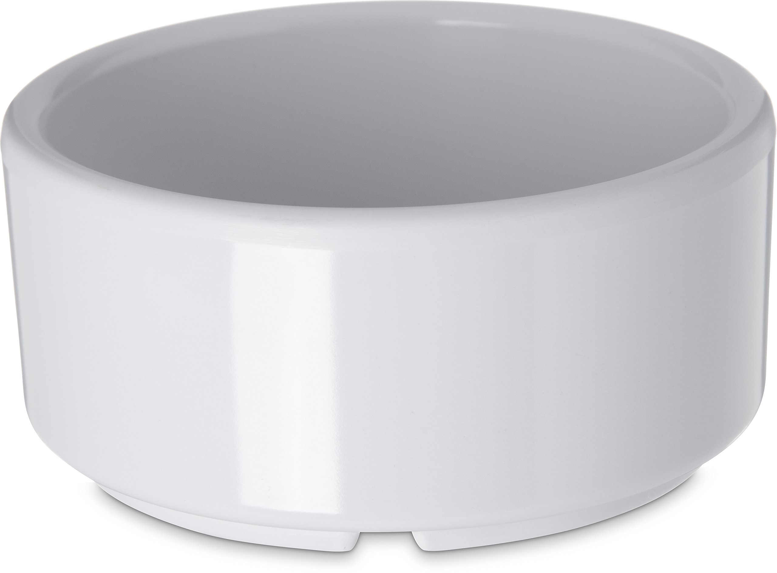 Carlisle 41402 White Melamine Straight-Sided Ramekin (Case of 48)