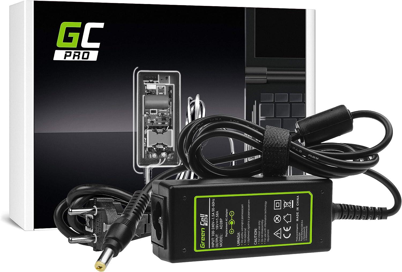 GC Pro Cargador para Portátil Acer Aspire One AOA150L AOA150X D150-1B D250-BK DELL Inspiron Mini 1012 Ordenador Adaptador de Corriente (19V 1.58A 30W)