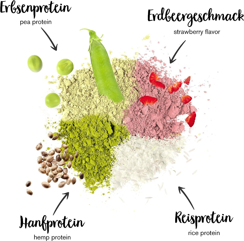 nu3 Proteína vegana 3K - 2kg de fórmula - 70% de proteína a base de 3 componentes vegetales - Proteínas para el crecimiento de la masa muscular con ...