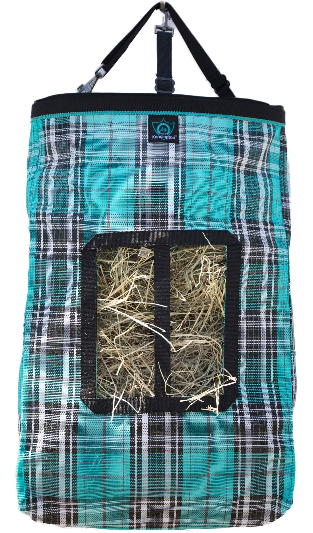 Kensington Hay Bag with Wire Rim - Sturdy Plastic Band Makes Loading Hay a Breeze - Holds Up to 2 Flake's