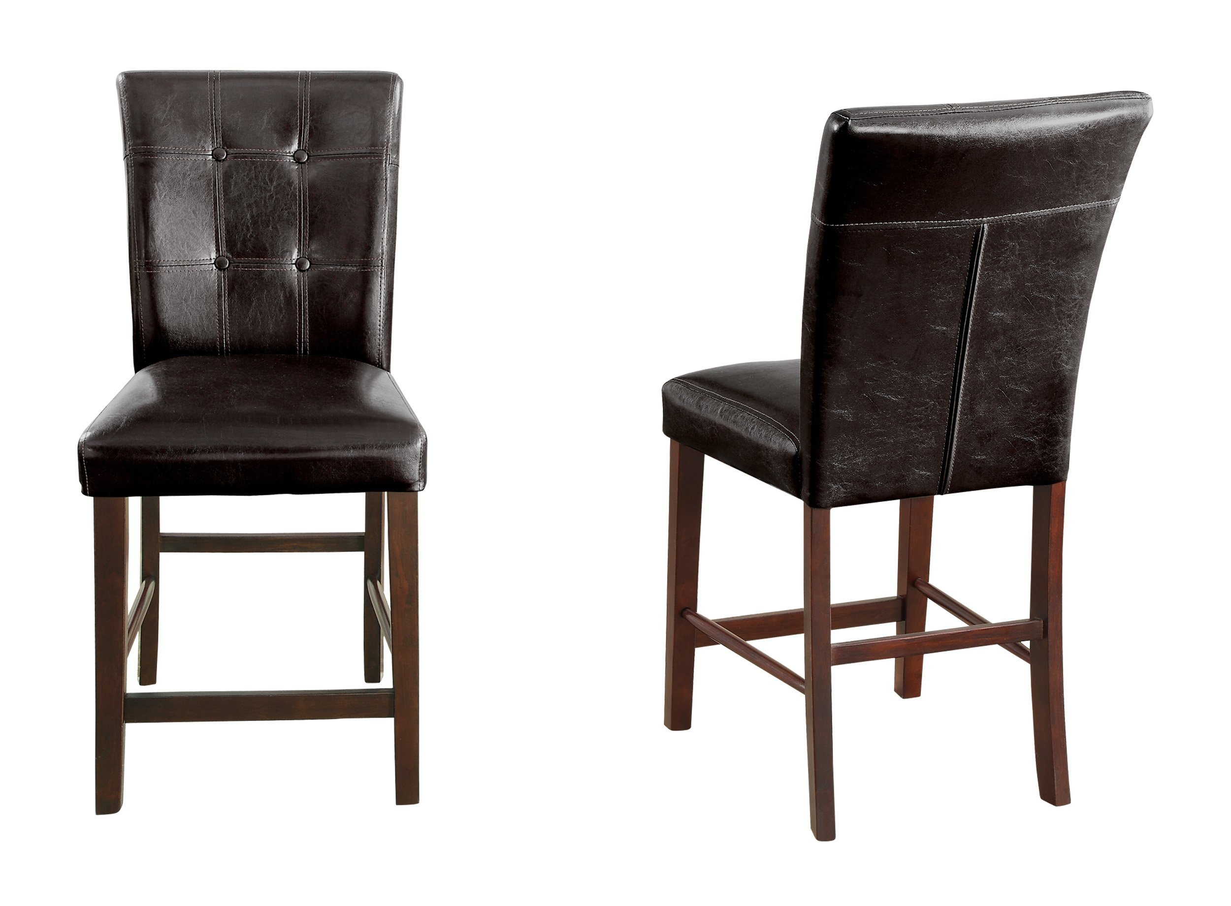 Homelegance 2456-24 Counter Height Chair Upholstered, Set of 2