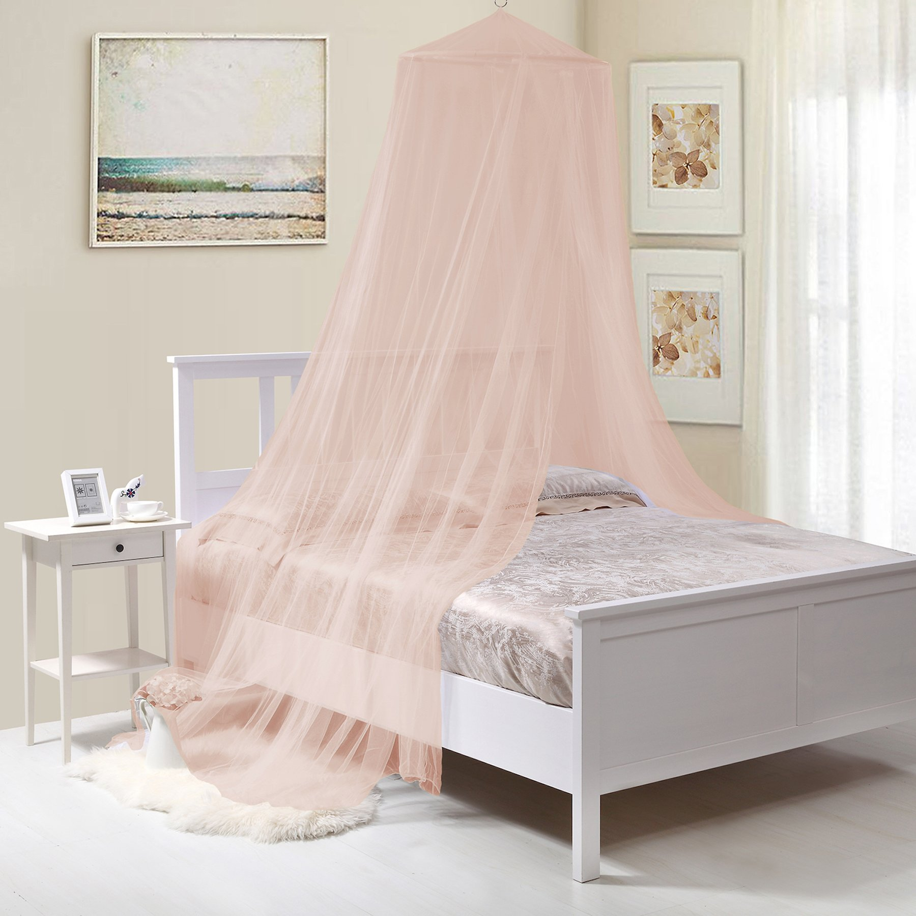 Fantasy Kids Kids Collapsible Wire Hoop Bed Canopy, Pink, One Size, by Fantasy Kids