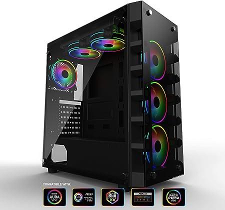 Gelid Solutions Black Diamond Gaming Pc Gehäuse Atx Computer Zubehör