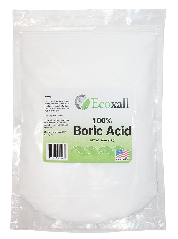 Ecoxall - Fine Granular Boric Acid Powder 99 9% Pure Anhydrous 1 lb  Bag