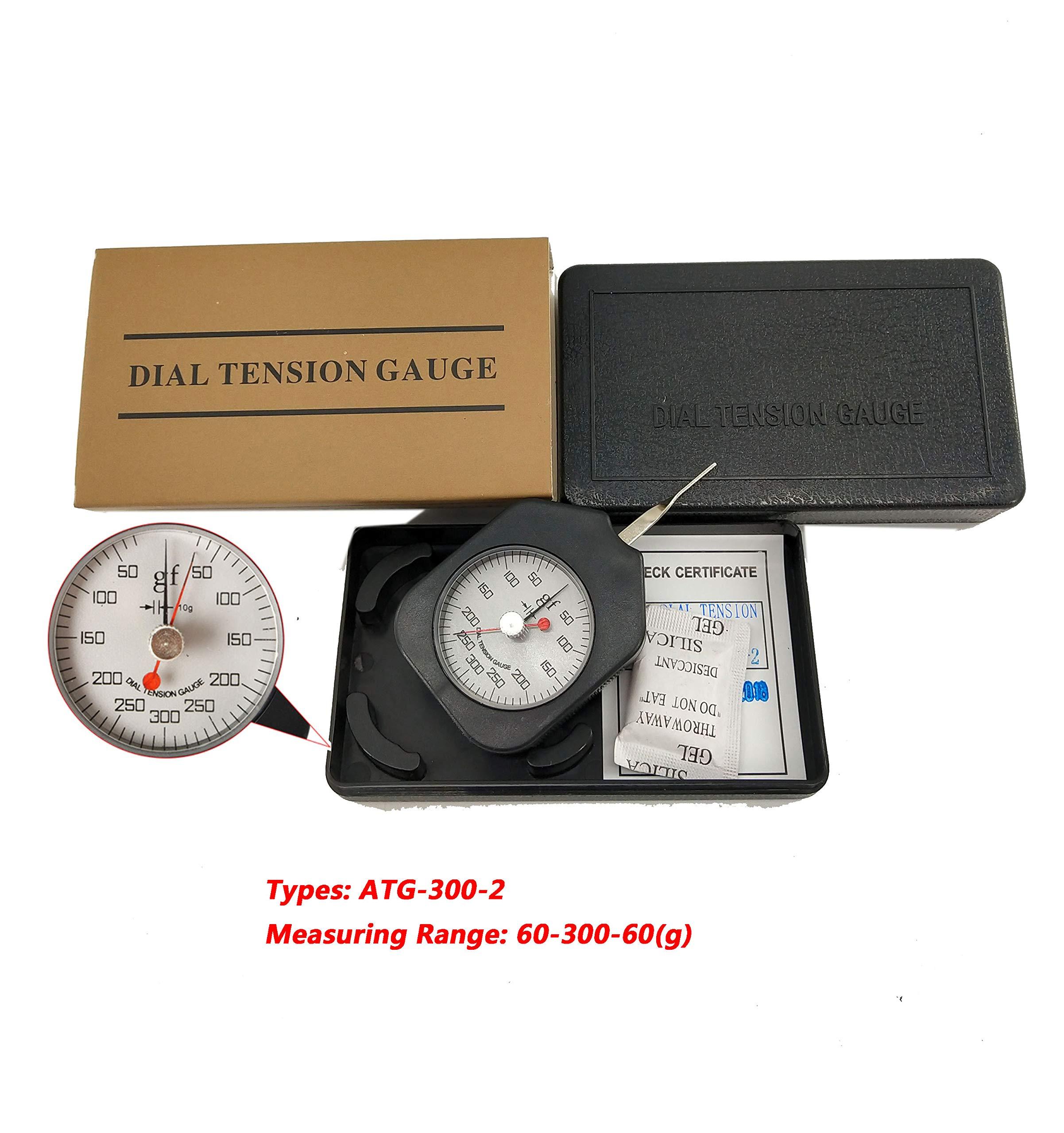 HFBTE ATG-300-2 Pocket Size Dial Tension Gauge Tester with Double Needle Meter Tensionmeter 60-300-60g Measuring Range by HFBTE