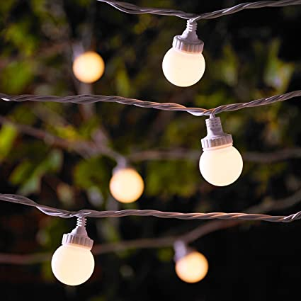 Catena Prolungabile Di 30 Lampadine Per Esterni Serie PRO Con Luci LED  Bianco Caldo Su Cavo