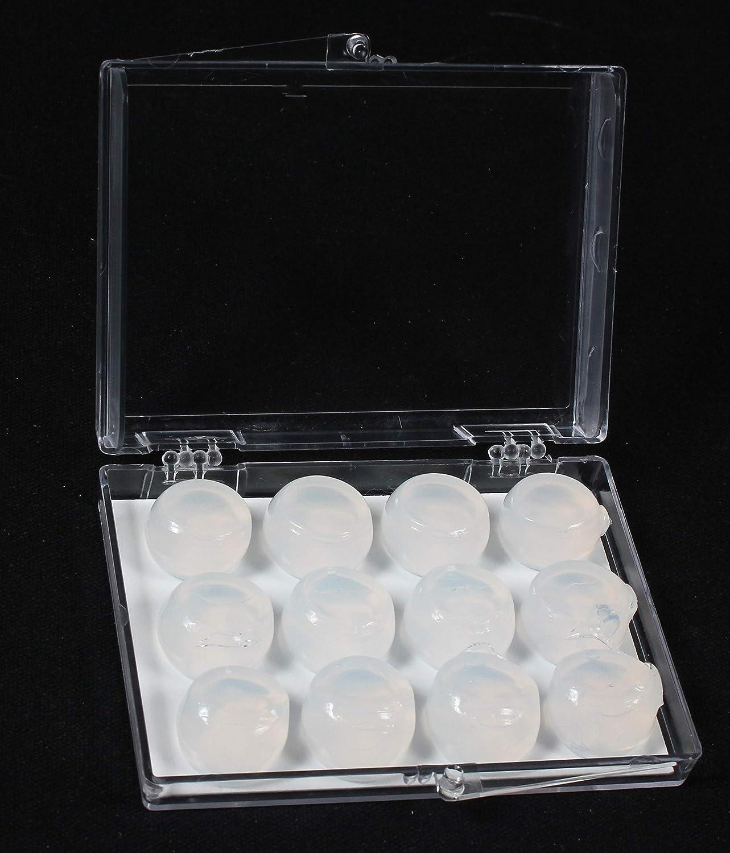 ronquidos nataci/ón Top Med Travelone Tapones de silicona moldeables para los o/ídos para dormir paquete de 6
