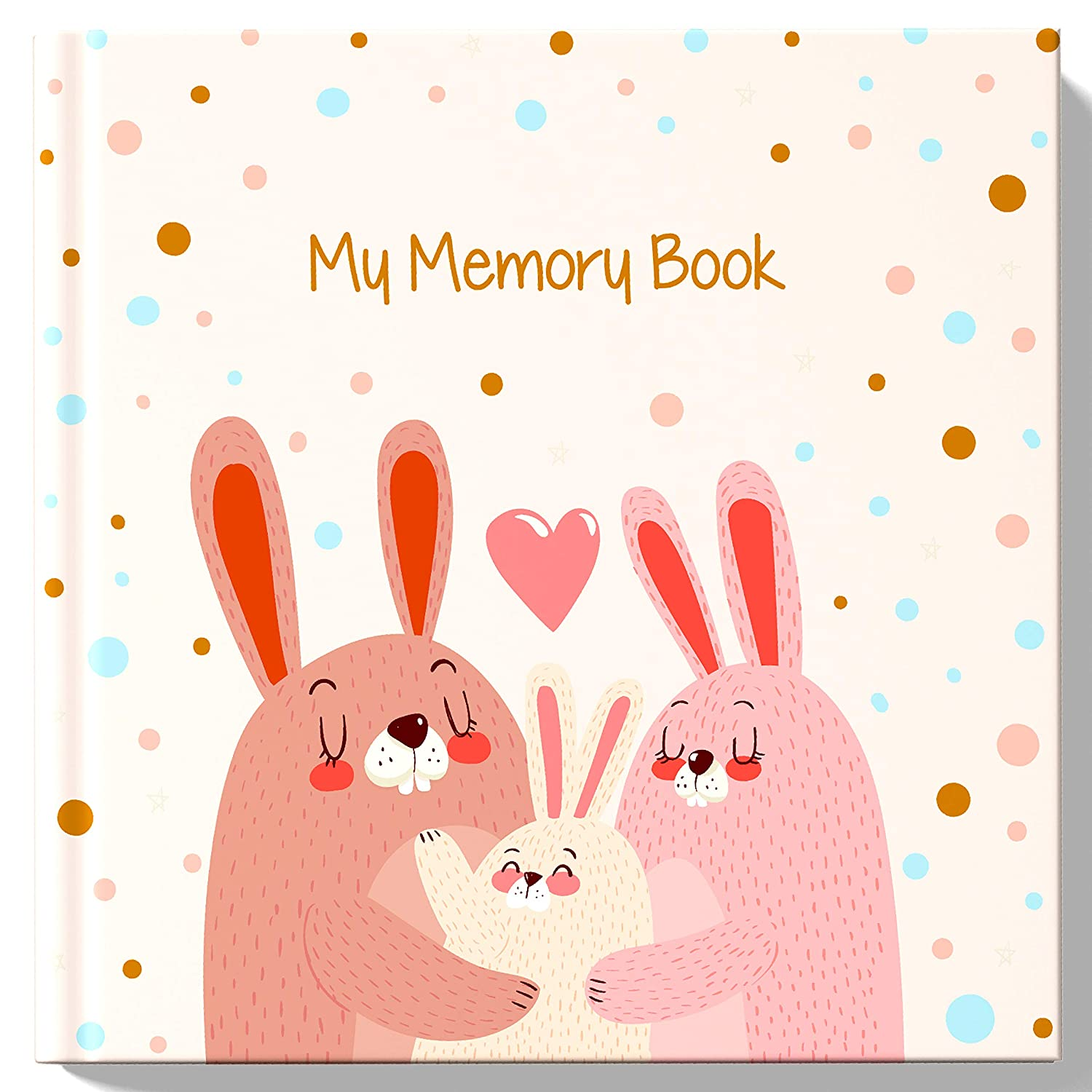 Baby Girl Memory Book Baby First Year Book – Baby Journal – Baby Keepsake Book – Baby Milestone Book – Pink
