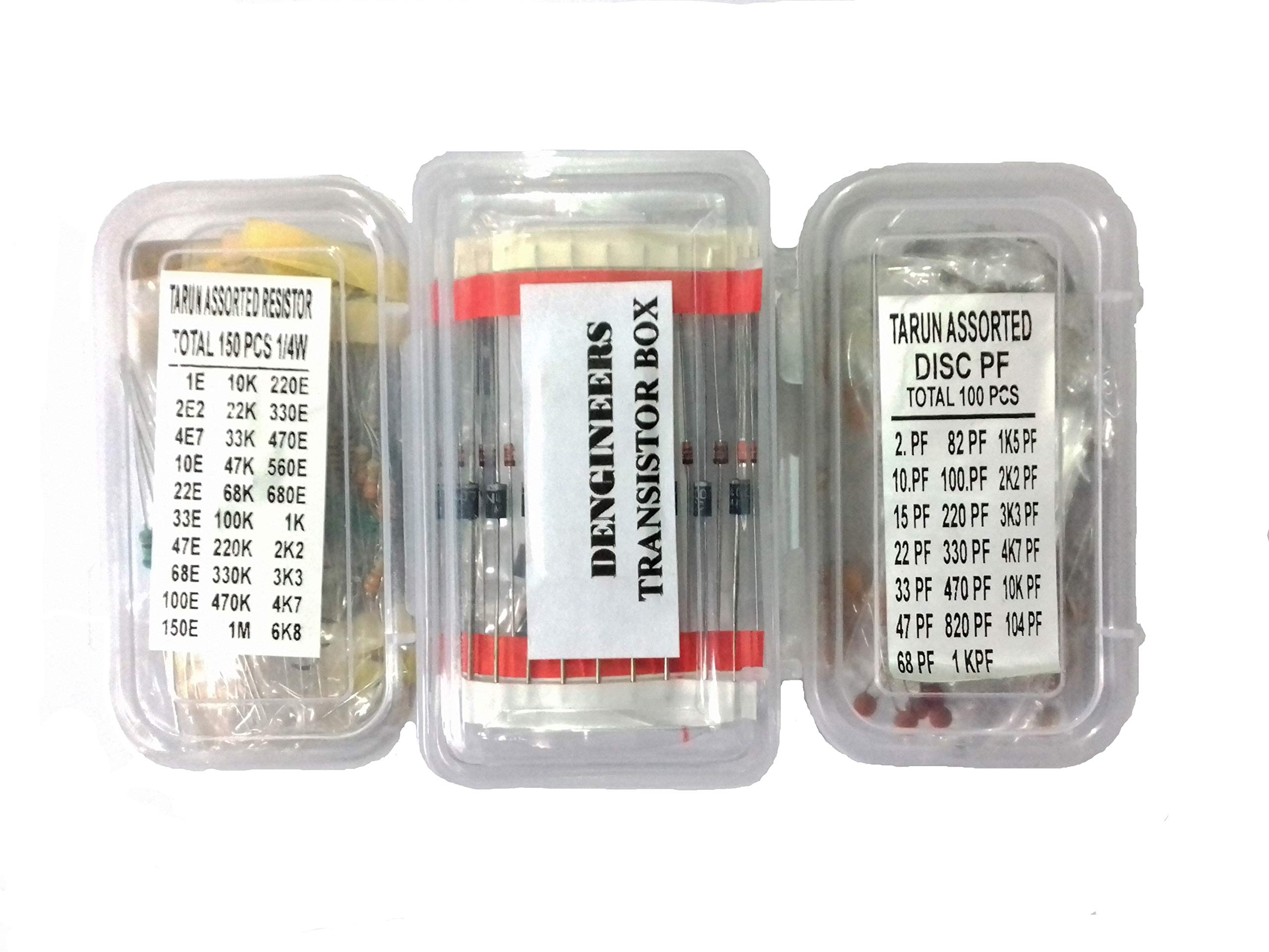 Generic CRT01 Dengineers Crt Capacitor-Resistor-Transistor Kit 60 Values, 310 Piece Components Box Pack For Engineering Projects, Diy Models Etc product image