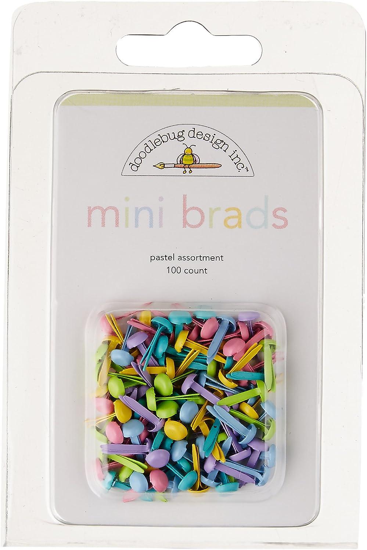 "Doodlebug Mini Brads .125/"" 100//Pkg Bright 811470000632"