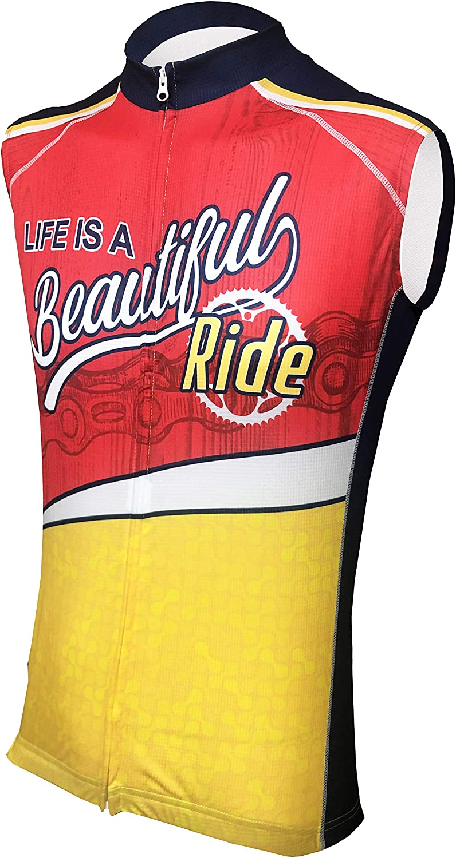 Life is A Beautiful Ride II Mens Sleeveless Cycling Jersey