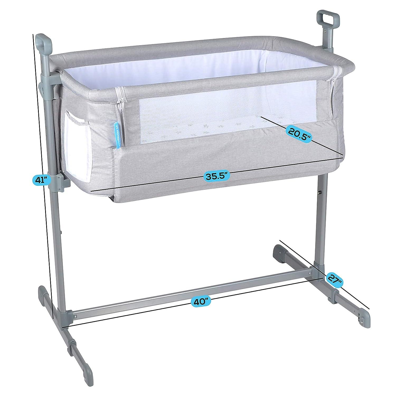 5. Milliard Side Sleeper Bedside Bassinet