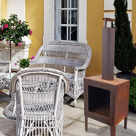 Estufa para terraza Rosty 35 x 35 x 110 cm - Horno de terraza exterior -