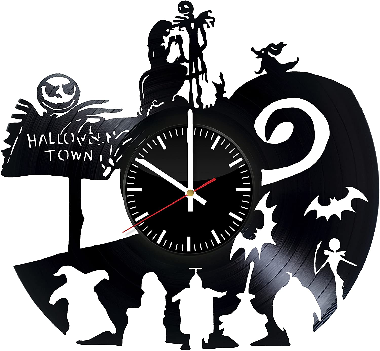 Amazon Com Nightmare Before Christmas Halloween Vinyl Record Wall Clock Get Unique Home Room Wall Art Decor Ideas For Boys Girls Kids Teens Men And Women Home Kitchen