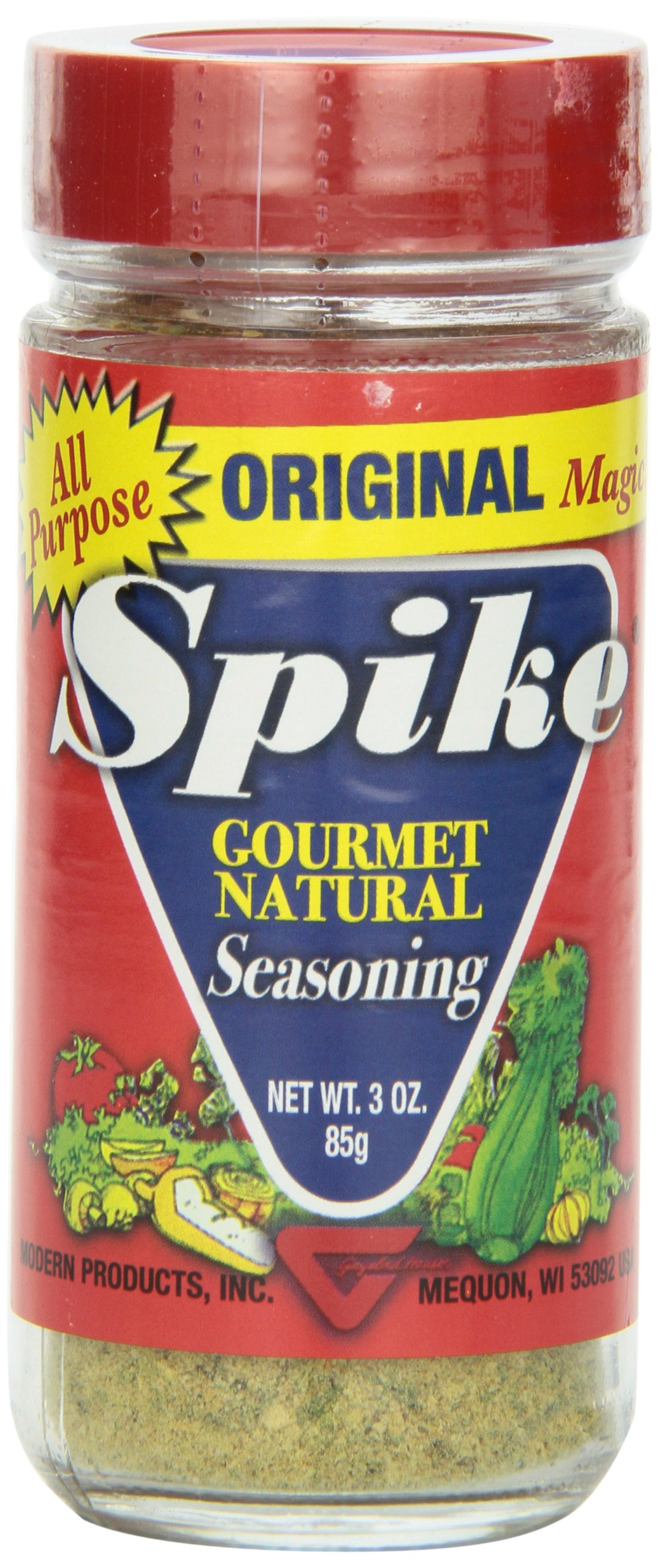 Spike Gourmet Natural Seasoning, Original, 3 Ounce (Pack of 6)