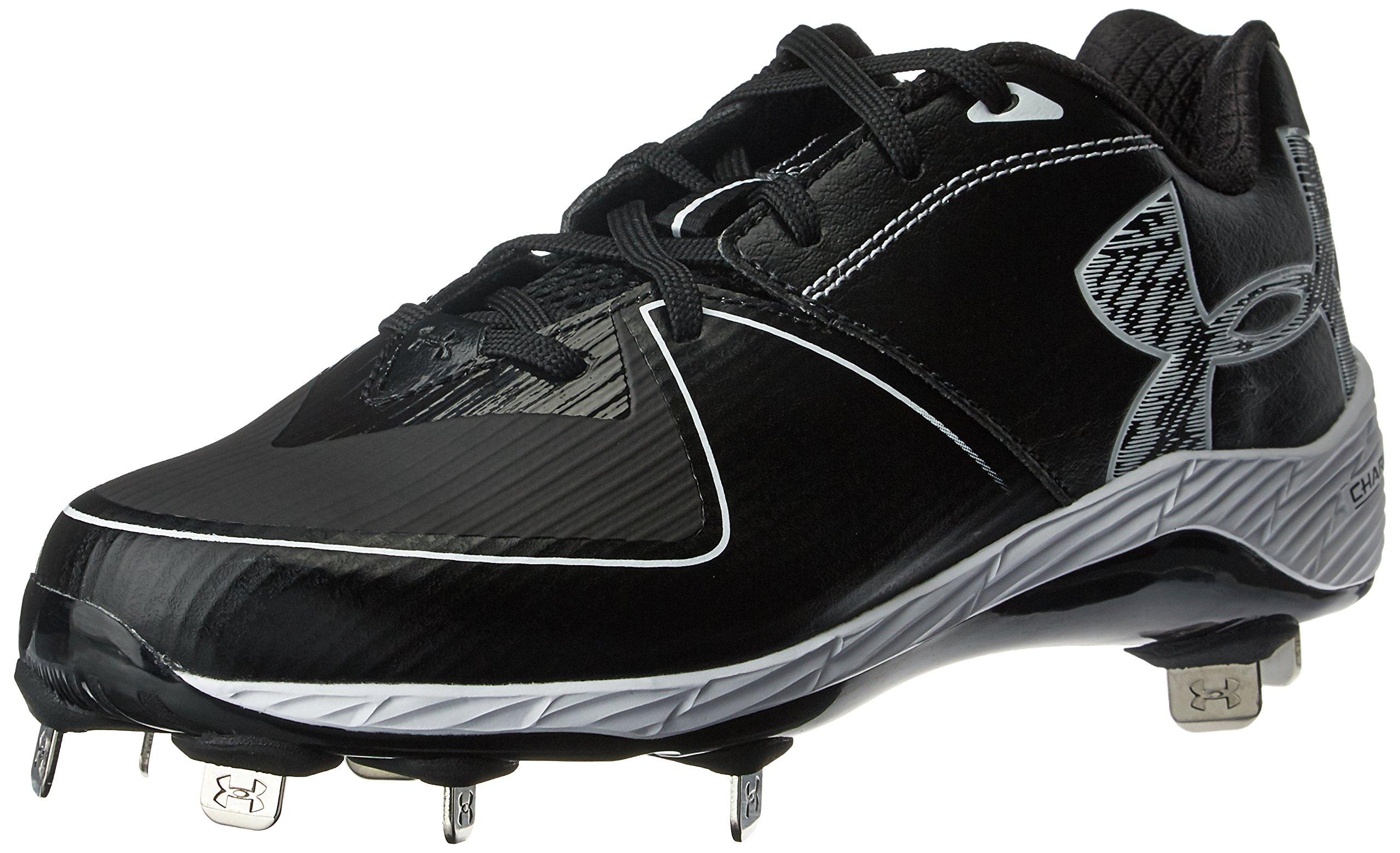 Under Armour Men's Glyde 2.0 ST Softball Shoe, Black (001)/Black, 6.5