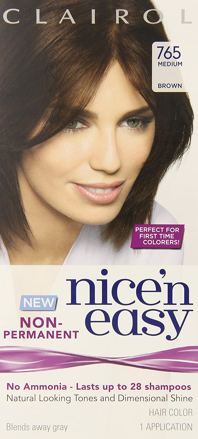 Amazon clairol nice n easy non permanent hair color 765 amazon clairol nice n easy non permanent hair color 765 medium brown 1 kit chemical hair dyes beauty geenschuldenfo Gallery