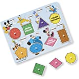 Melissa & Doug Mickey Mouse Clubhouse Wooden Shapes & Colors Peg Puzzle