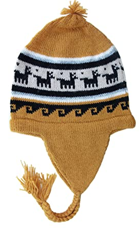 ef1539e82ca Handmade PURE ALPACA Hat with Earflaps (CUSTOM MADE) at Amazon Men s ...