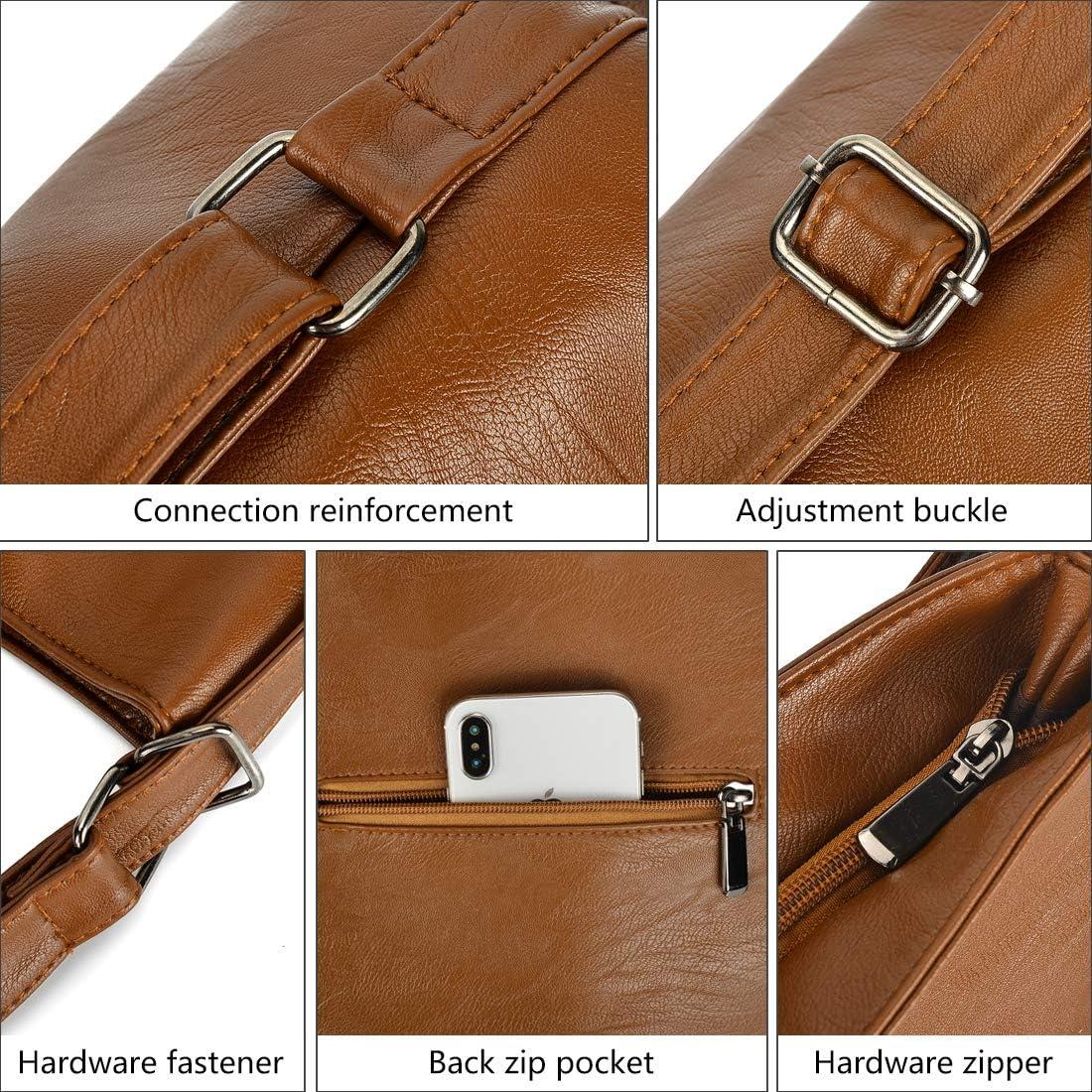 Artwell Women Shoulder Bag Convertible Backpack Purse PU Leather Hobo Style Handbag Totes Bronze2