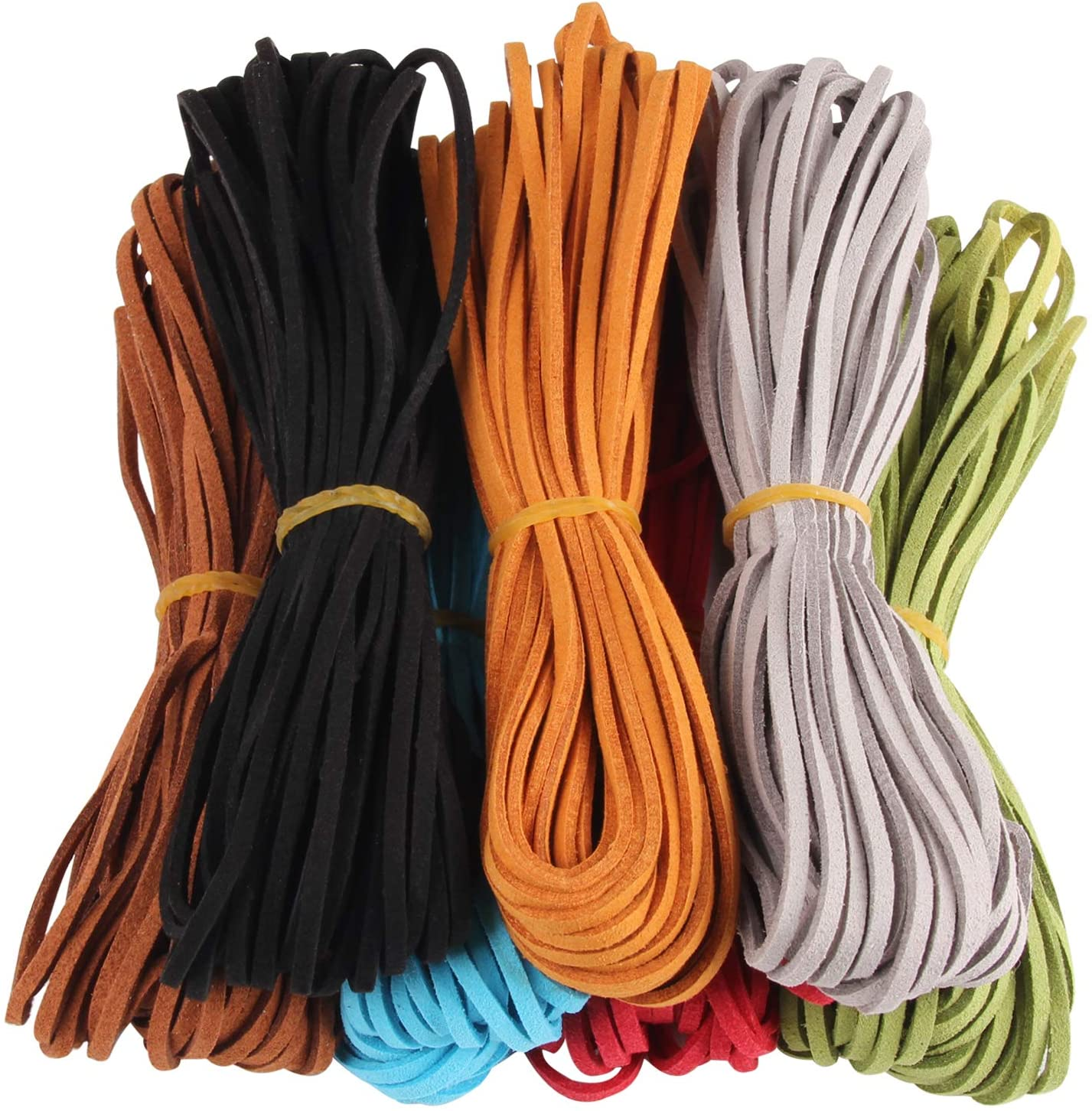 bracelets. 4mm Navy Blue Flat Suede Leather Cord for jewelry Leather rope for DIY crafts