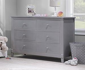 Sorelle Berkley Double Dresser, Gray