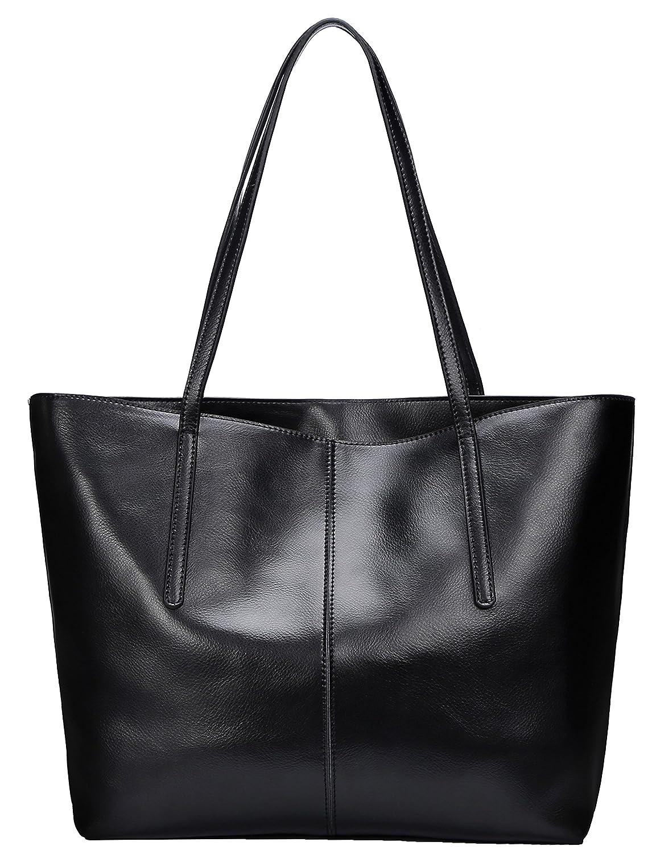 78c6b2be4bae Amazon.com  Covelin Women s Handbag Genuine Leather Tote Shoulder Bags Soft  Hot Black  Shoes
