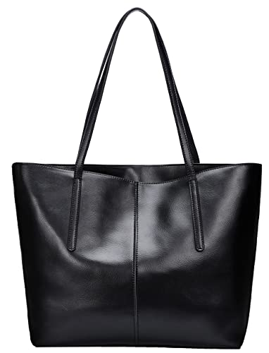 c080fb7b81 Covelin Women s Handbag Genuine Leather Tote Shoulder Bags Soft Hot Black