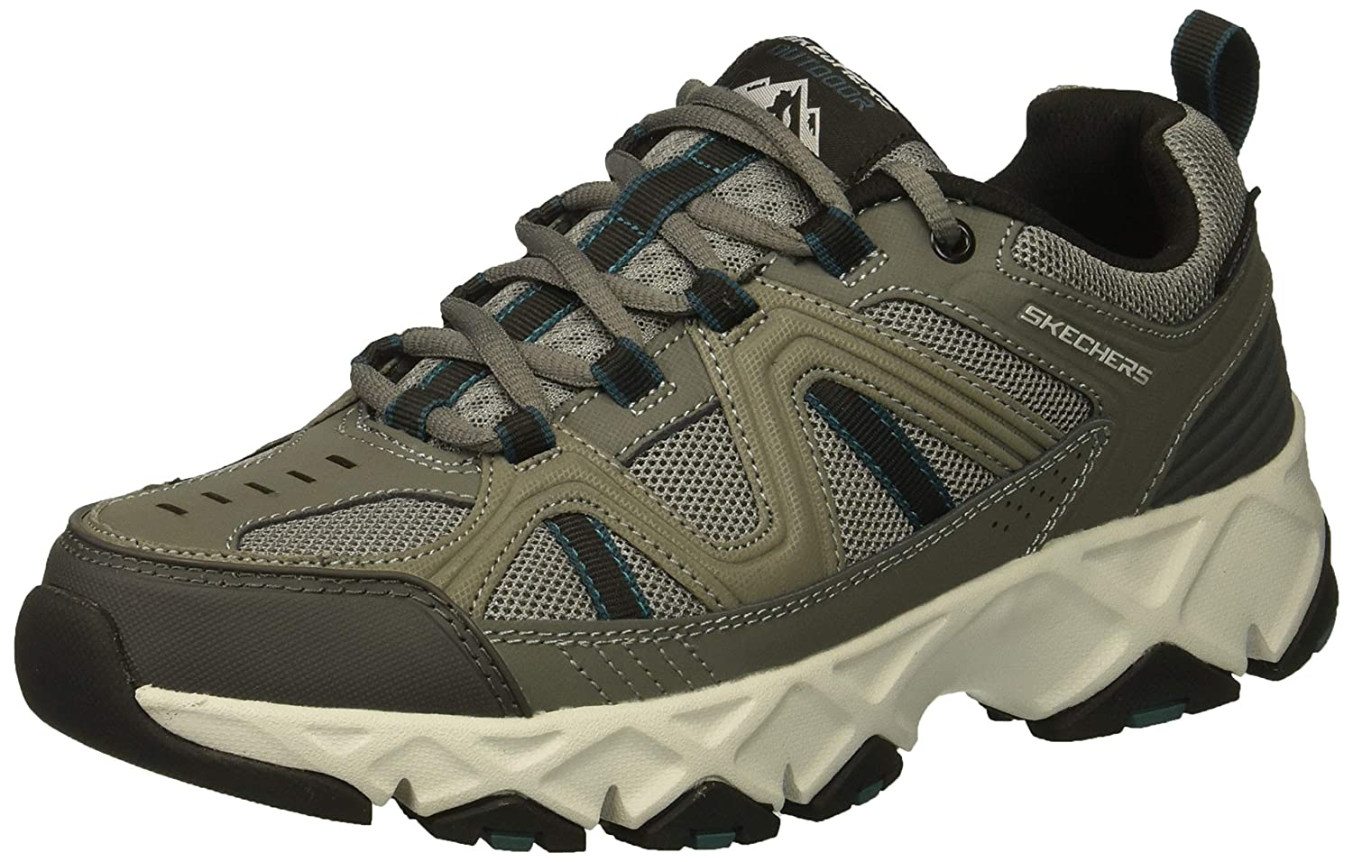 Skechers Men's Crossbar Oxford, Gray/Black, 11 4E US