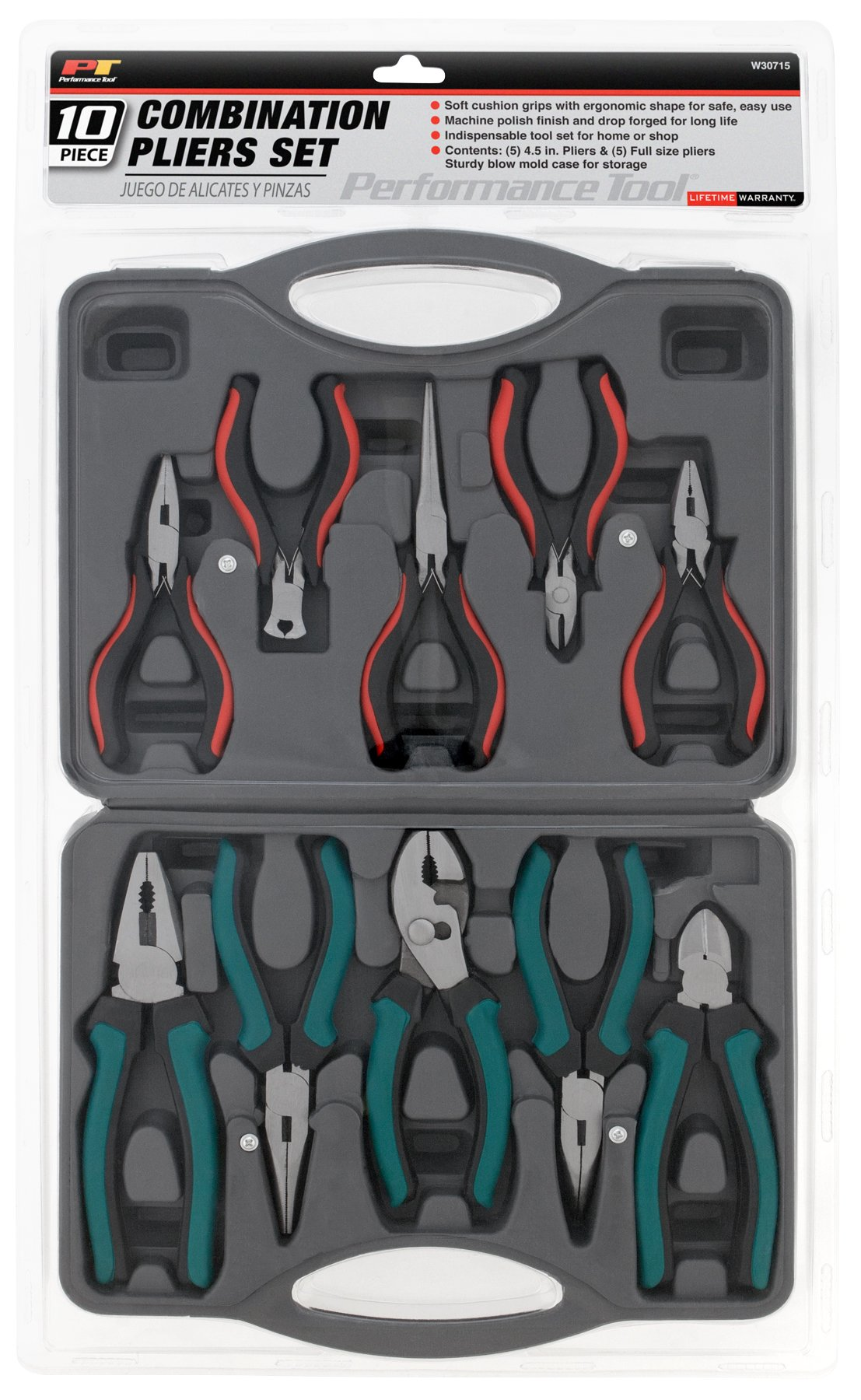 Performance Tool W30715 Pliers Combination Set, 10-Piece by Performance Tool