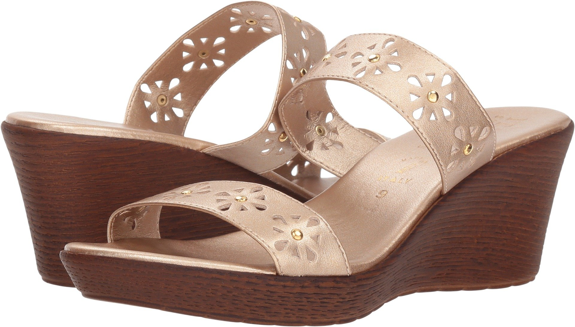ITALIAN Shoemakers Syd Rose Gold Womens Wedge Sandals Size 7M